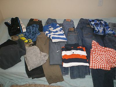 Huge Lot Of Boys Size 5 , 6 , 8 , 10, 12, 14 Clothes Jeans Shirts 20+ Items