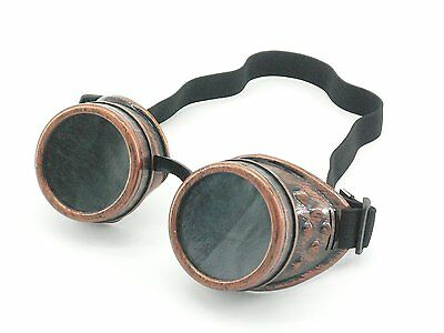 Wocst New Sell Vintage Steampunk Goggles Glasses Welding Cyber Punk Gothic