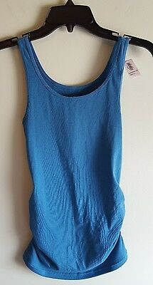 NWT Old Navy Women's Maternity XS Ribbed Tank Top ESTUARY BLUE Fitted #214717