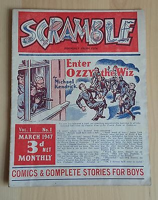 Gerald G Swan 1947 comic SCRAMBLE No1 plus 16 more issues