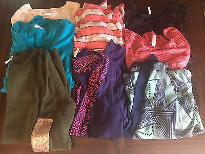 Lot of Large and Medium Maternity Sweaters, Tops and Kimono. EUC. Pink Blush H&M
