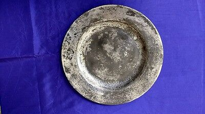Antique Pewter Plate