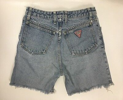 Vintage 90s Guess Jeans Cutoff Shorts | High Waist | Size 29 | Light Wash