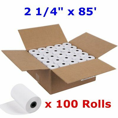 "100 Rolls Case 2 1/4""  x 85' Cash Register Credit Card POS Receipt Thermal Paper"