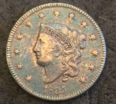 "1835 Coronet Liberty Head Large One Cent ""small"" 8 & Stars"