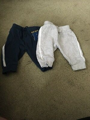 2 Pairs Of Joggers Size 0-3 Months