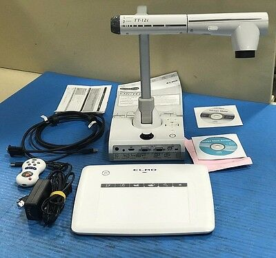 Elmo TT-12i Interactive Document Camera and CRA-1 Wireless Tablet Used Nice (O7)