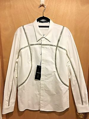 Givenchy Men's 100% Cotton Zip-Around Button-Front Shirt *new w/tag