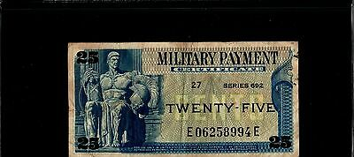 Series 692 25 Cent Military Payment Certificate MPC