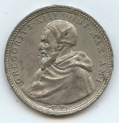 Exonumia Pope Gregory XIII Anniv. Medal (#7794) Dated 1572 to Celebrate