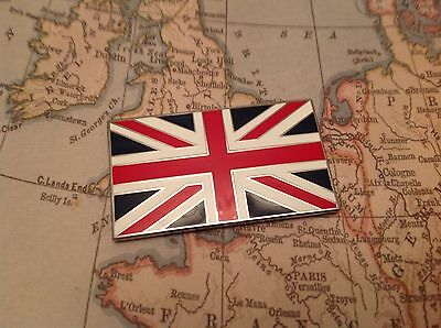 UNION JACK GB CAR BADGE FLAG WITH 3M S/A JAGUAR LAND ROVER TVR MG Red white blue
