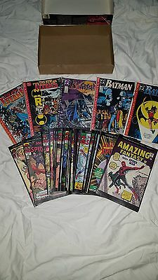 20+ COMIC BOOK LOT Marvel and DC SPIDERMAN BATMAN Great Condition