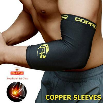 Copper Elbow Support Sleeve Compression Tennis Arm Brace Wrap Pain Relief Gym JF