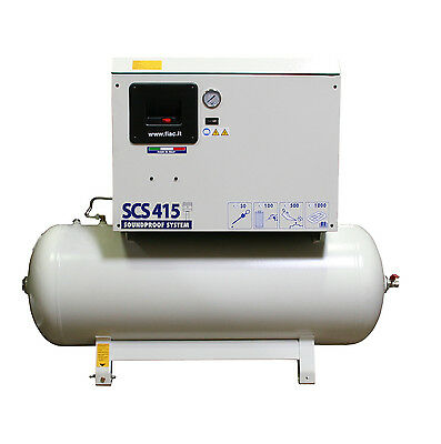 SCS 415/200 Silent Reciprocating Air Compressor w/ Tank