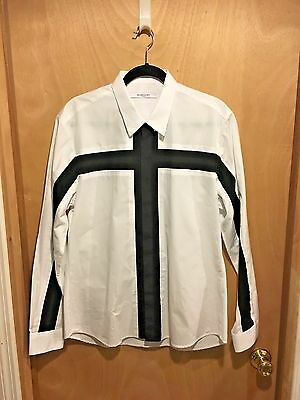 Givenchy Men's 100% Cotton Symmetrical Stripe Button-Front Shirt *new