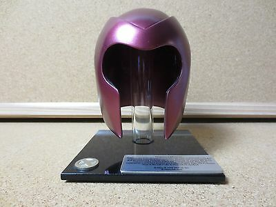Genuine Marvel X-Men Magneto Mini Maroon Metal Helmet w/ Stand CCG 2000 (PG1482)