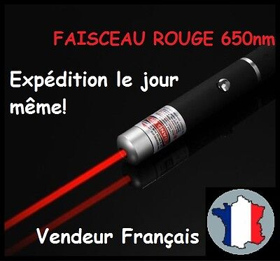 POINTEUR POINTER LASER LAZER ROUGE RED PUISSANT 1mW STYLO LONGUE PORTEE