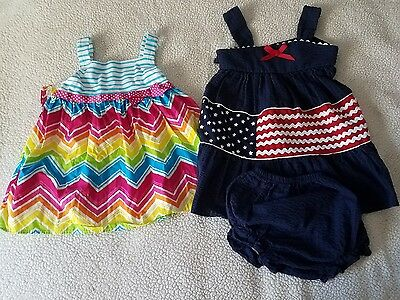 Toddler Girl 24 Months 3 Pieces Summer Dress Lot Rare Too and Youngland Baby