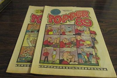 2 x TOPPER COMICS  NOVEMBER 1989     BERYL the PERIL      VERY GOOD CONDITION