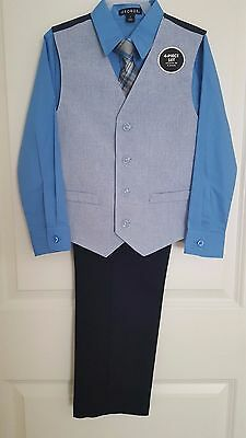 NWT George Boy's 4pc Suit Special Occasion Dress Set Size 7, 8, 10, 12
