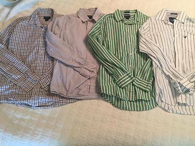 LOT American Eagle  Men's Dress Shirts Size Small