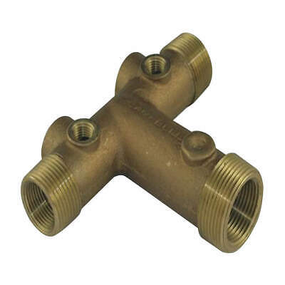CAMPBELL Well Water Tank Fitting,Tee,Brass, UTC5-4-3LF