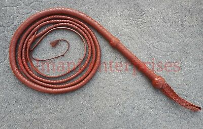 8 Feet Long 12 Plait Genuine Kangaroo Leather Heavy Duty Bullwhip Custom whip