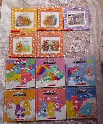 CHILDREN'S BOOKS X 11- 5 x WINNIE THE POOH & 6 x CARE BEARS FRIENDSHIP CLUB - HC