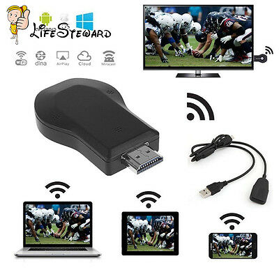 MiraScreen Miracast TV DLNA Airplay WiFi Display Receiver Dongle HDMI HDTV 1080P