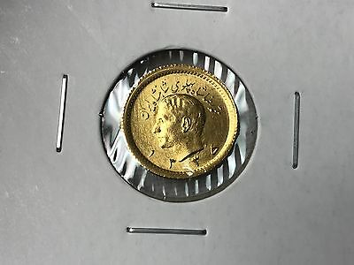 Sh1335(1956) Iran 1/4 Pahlavi .900 Gold Coin - Low Mintage