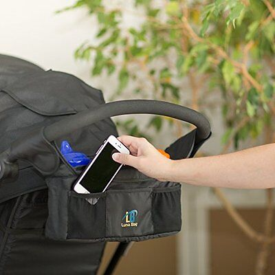 Baby Stroller Organizer Pouch Luna Bag Magnetic Jogger Cup Holder Console Jogger