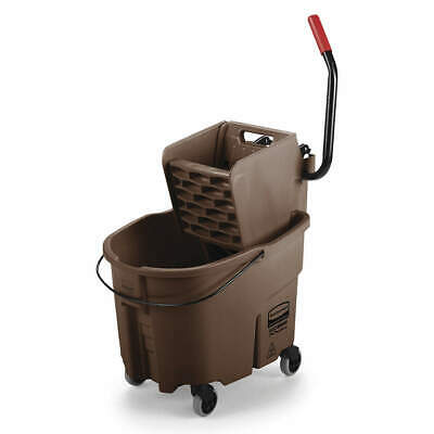 RUBBERMAID Mop Bucket and Wringer,35 qt.,Brown, FG758088BRN, Brown