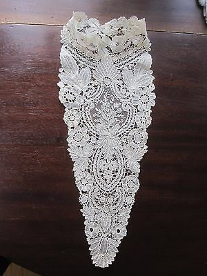 Antique Victorian Lace Collar Ruffle Brussels Duchesse Mixed Bobbin Needle Lace