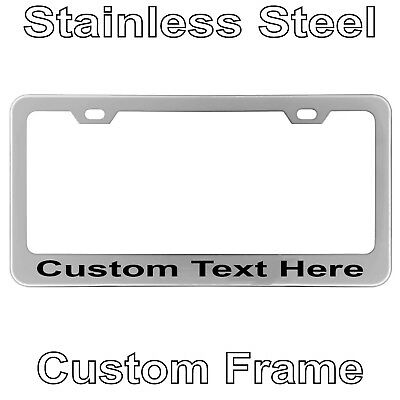 Custom Laser Engrave Chrome Stainless Steel License Plate Frame With YOUR TEXT
