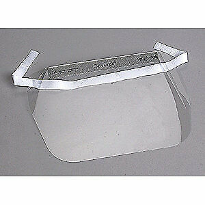ALPHA PROTECH Disposable Faceshield Assembly,Clr,PK100, 2802