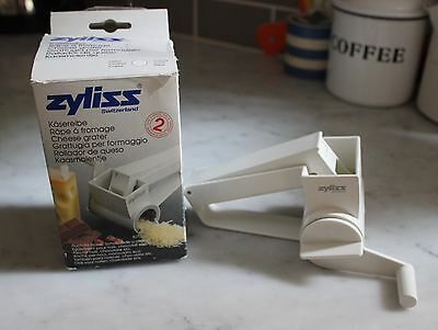 Zyliss Switzerland Rotary Hand Crank Cheese Grater (Nuts & Chocolate too)