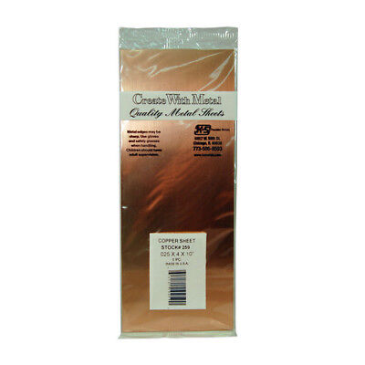 K & S Engineering Ks259  Copper Sheet Metal .025 - 4 X 10