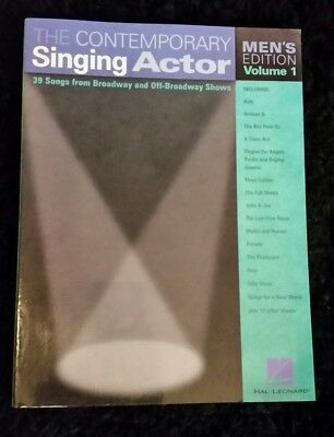 The Contemporary Singing Actor Vol. 1 Men's edition by Hal Leonard Corp