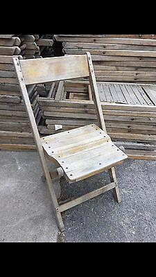 Snyder Chair Co Wood Chairs Vintage Lot 125 Antique Folding Rental Business