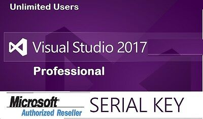 MS Visual Studio 2017 Professional  License Key Lifetime -Connect to Your e-Mail