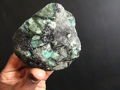 Aaa Top Quality Emerald In Quartz Rough 1.5 Lbs From Brazil