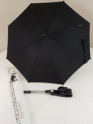Black PARASOL by Graco UV protection New for pushchair or buggy adjustable