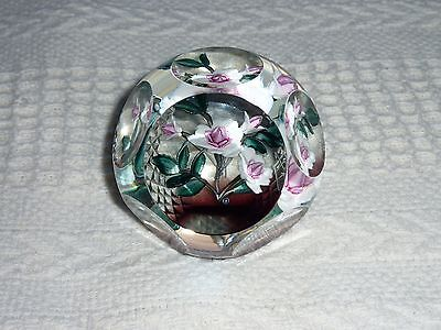 Caithness Glass Paperweight 'LOVE FLOWERS - ROSE' 31/50