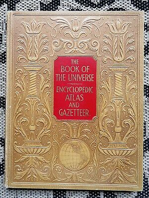 Antique 1937 Book Of Universe Atlas & Gazetteer- Maps- World History- Us States