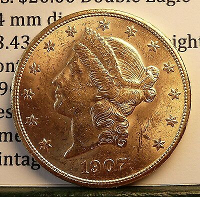 1907 U.S. $20 Double Eagle Gold Coin