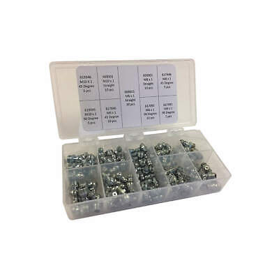 KINGFISHER Grease Fitting Kit,Metric Type,90 Pieces, GFD6000