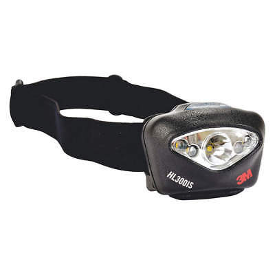 3M Industrial Headlamp,150lm,Plastic,Blk, HL300IS