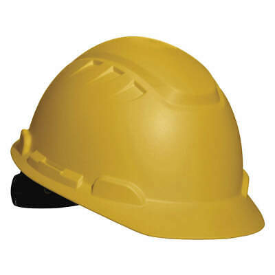 3M Hard Hat,4 pt. Ratchet,Ylw, H-702T, Yellow
