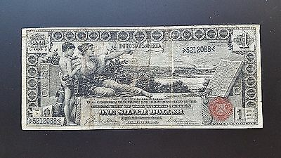 """1896 $1 Silver Certificate """" Educational Series Note """""""