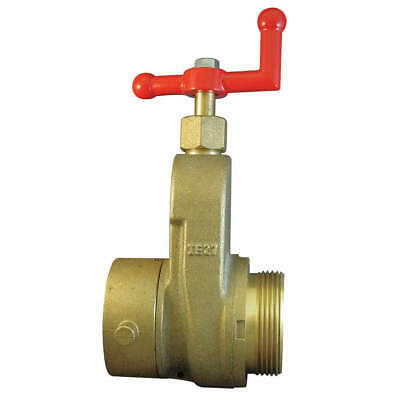 MOON AMERICAN Hose Gate Valve,2.5in MxF NST,Brass, 734-2521